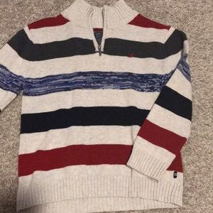 Nautica Boys Sweater 1/4 Zip Size 7